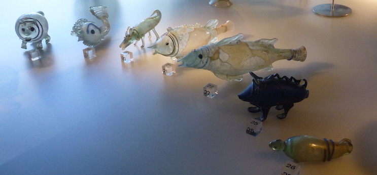 Roman glass fishes, Cologne museum